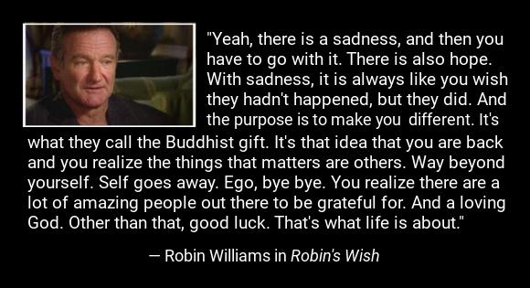 Final speech in Robin's Wish by Robin Williams