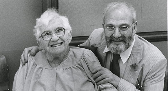 Oliver Sacks with a patient