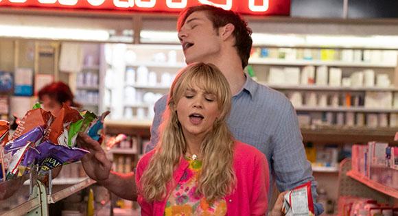 Carey Mulligan as Cassie and Bo Burnham as her beau Ryan