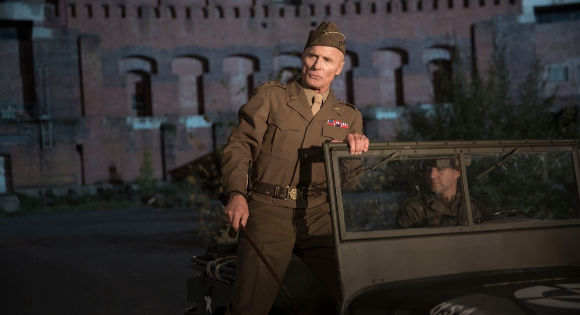 Ed Harris as General Patton in Resistance