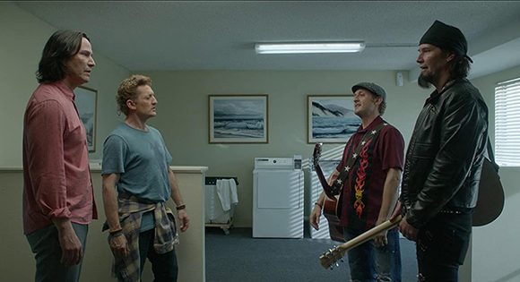 Ted (Keanu Reeves) and Bill (Alex Winter) meet their future selves