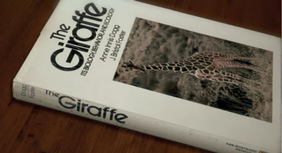 The cover of Anne Innis Dagg's book, The Giraffe