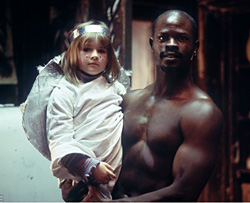 Emma Bolger as Ariel and Djimon Hounsou as Mateo