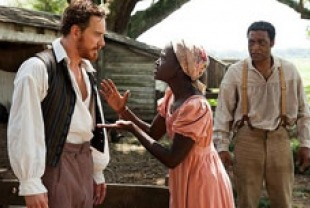 Michael Fassbender as Edwin Epps, Adepero Oduye as Eliza and Chiwetel Ejiofor as Solomon