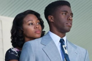 Nicole Beharie as Rachel and Chadwick Boseman as Jackie