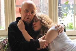 Wallace Shawn as Solness and Emily Cass McDonnell as Kaya