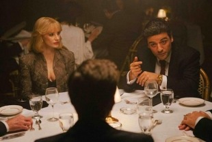 Jessica Chastain as Anna and Oscar Isaac as Abel