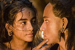 Dalia Hernandez as Seven and Rudy Youngblood as Jaguar Paw