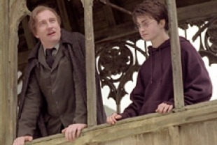 David Thewlis as Professor Lupin and Daniel Radcliffe as Harry Potter