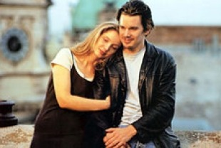 Julie Delpy as Celine and Ethan Hawke as Jesse
