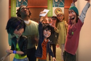 A scene from Big Hero 6