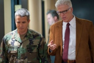 Dermot Mulroney as Colonel Scott and Ted Danson as J.W.