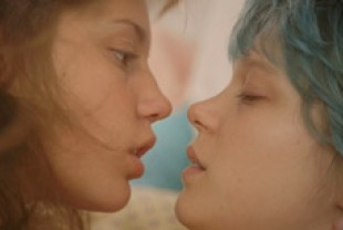 Adèle Exarchopoulos as Adele and Lea Seydoux as Emma