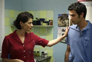 Hiam Abbass as Intessar and Mahmoud Shalaby as Naim