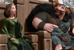 Queen  Elinor voiced by Emma Thompson and King Fergus voiced by Billy Connolly