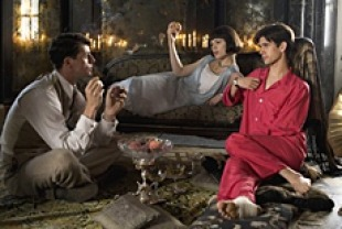 Matthew Goode as Charles, Hayley Atwell as Julia, and Ben Whishaw as Sebastian