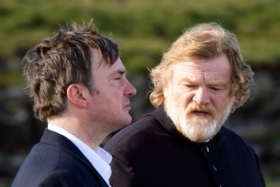 Dylan Moran as Michael and Brendan Gleeson as Father James