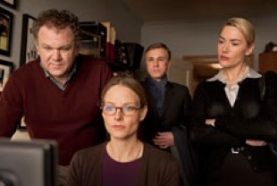 John C. Reilley as Michael, Jodie Foster as Penelope, Christoph Waltz as Alan and Kate Winslet as Nancy