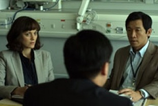 Marion Cotillard as Dr. Leonora Orantes and Chin Han as Sun Feng