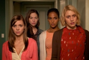 Carrie MacLemore as Heather, Analeigh Tipton as Lily, Megalyn Echikunwoke as Rose and Greta Gerwig as Violet.