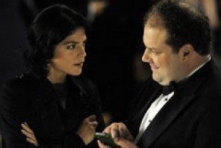 Selma Blair as Miranda and Jordan Gelber as Abe
