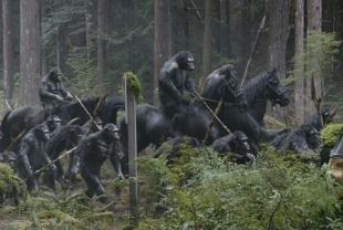 Scene from Dawn of the Planet of the Apes