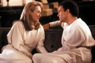 Meryl Streep as Julia and Albert Brooks as Daniel