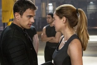 Theo James as Four and Shailene Woodley as Tris