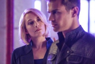 Kate Winslet as Jeanine and Theo James as Four