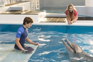 Sawyer Nelson as Nathan and Cozi Zeuhlsdorff as Hazel with Winter