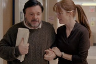 Nathan Lane as Carl and Julianne Moore as Linda