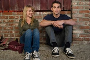 Britt Robertson as Aubrey and Dylan O'brien as Dave