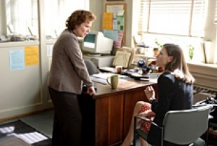 Imelda Staunton as Margaret Campbell and Hilary Swank as Erin