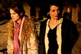 Natalie Portman as Rebecca and Hiam Abbass as Leila