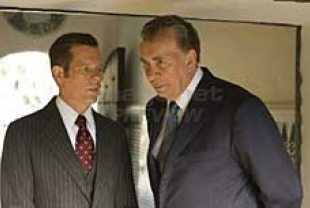 Kevin Bacon as Jack Brennan and Frank Langella as Richard Nixon