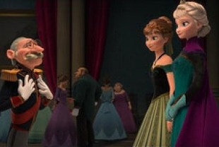 Kristen bell as Anna and Idina Menzel as Elsa