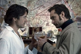 Robert Downey Jr. as Holmes and Jude Law as Watson