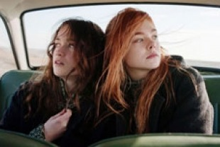 Alice Englert as Rosa and Elle Fanning as Ginger