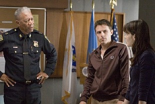 Morgan Freeman as Jack, Casey Afflect as Patrick, and Michelle Monaghan as Angie