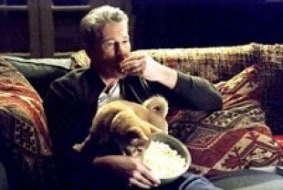 Richard Gere as Parker with Hachi