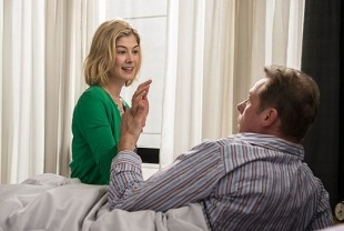 Rosamund Pike as Clara and Simon Pegg as Hector