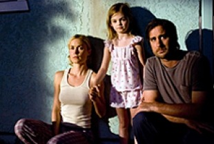 Radha Mitchell as Dawn, Morgan Lily as Millie, and Luke Wilson as Henry