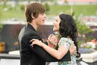 Zac Efron as Troy and Vanessa Hudgens as Gabriella