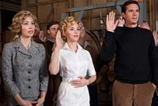 Jessica Biel as Vera Miles, Scarlett Johansson as Janet Leigh, and James D'Arcy as Anthony Perkins