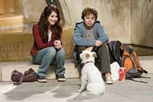 Emma Roberts as Andi, Jake T. Austin as Bruce, and Friday