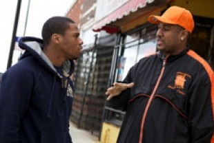 Violence interrupter Cobe Williams (right) and Lil Mikey (left)