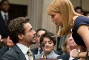 Robert Downey Jr. as Tony Stark and Gwyneth Paltrow as Pepper Potts