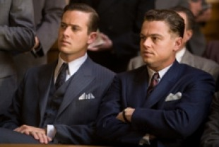 Armie Hammer as Clyde Tolson and Leonardo DiCaprio as J. Edgar Hoover