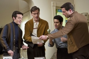 Vincent Piazza as Tommy, Erich Bergen as Bob, John Lloyd Young as Frankie, and Michael Lomenda as Nick