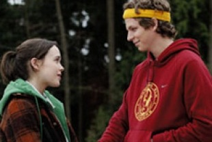 Ellen Page as Juno and Michael Cera as Paulie